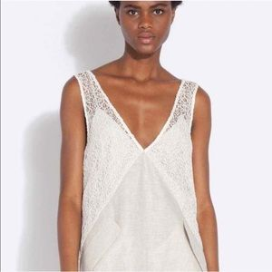 Rachel Comey Flame Lace and Linen mini dress 2 new